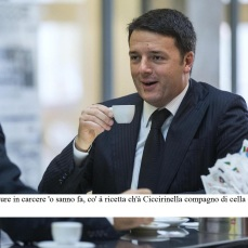 Foto Roberto Monaldo / LaPresse 04-11-2014 Roma Politica Rientrando a Palazzo Chigi dopo la cerimonia per la Giornata delle Forze Armate Matteo Renzi, accompagnato dalla scorta, si concede un momento di relax prendendo un caffè al bar della galleria Colonna Nella foto Matteo Renzi Photo Roberto Monaldo / LaPresse 04-11-2014 Rome (Italy) Coffee for Matteo Renzi after the ceremony in Piazza Venezia In the photo Matteo Renzi